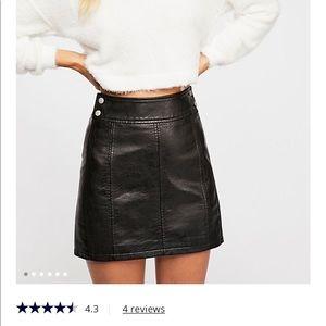 New⭐️ Free People Vegan Mini Skirt Size 6🦋